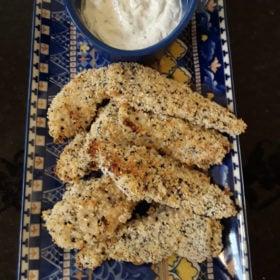 Everything Bagel Salt-Free Chicken Strips Recipe