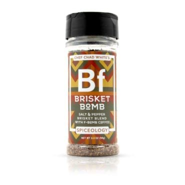Chef Chad White brisket seasoning in large container