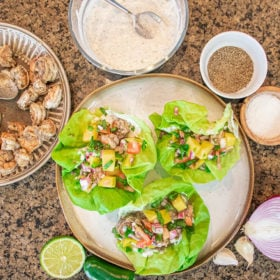 Jamaican Jerk Shrimp Wraps