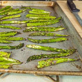 Roasted Greek Freak Asparagus