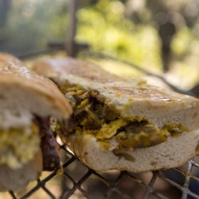 Grilled Steak and Eggs Sandwich