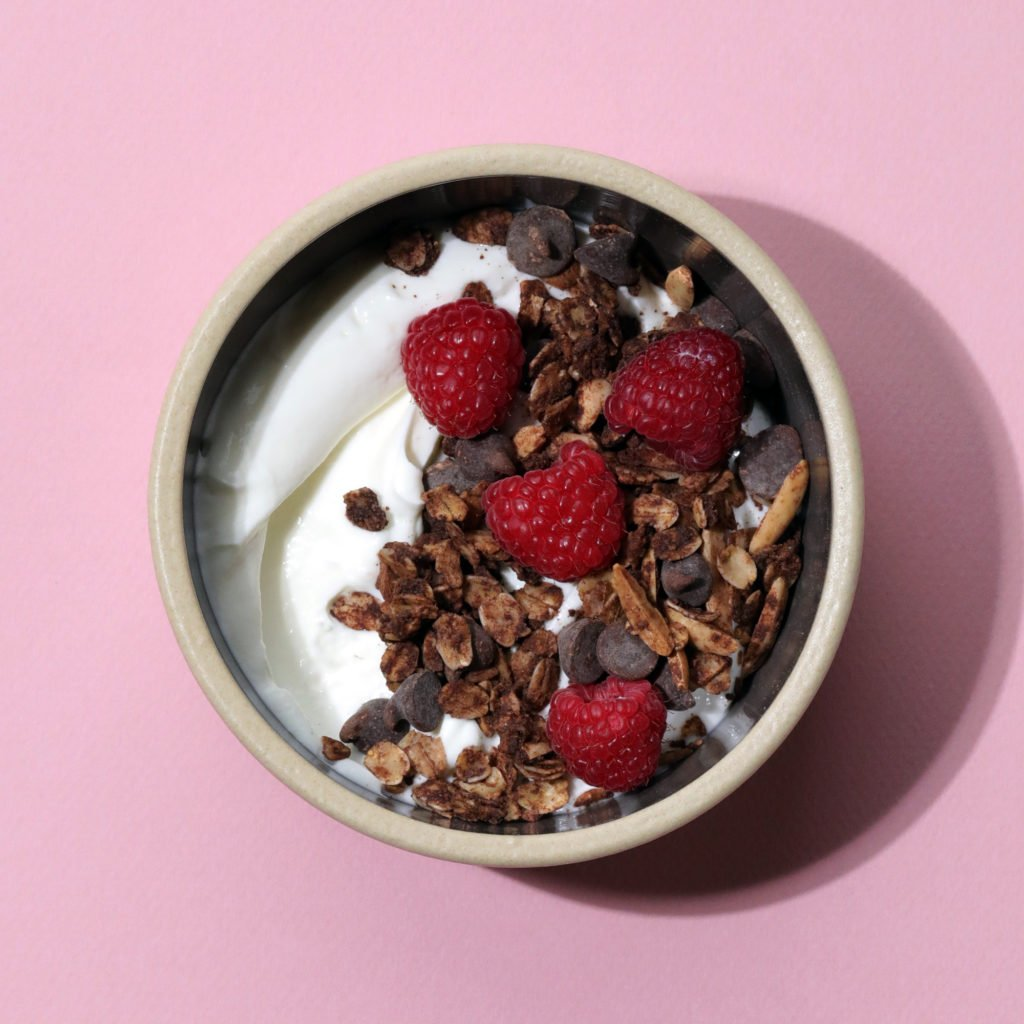 Salted Mexican Hot Chocolate Granola in a bowl