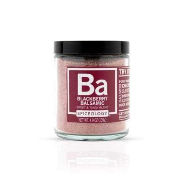Blackberry Balsamic seasoning in glass jar