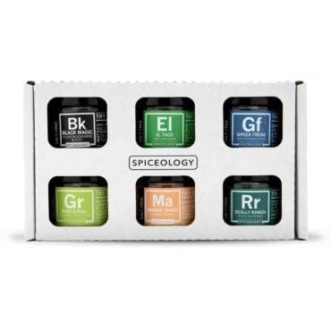 Salt-free seasoning gift pack with mini jars